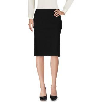 《セール開催中》ASPESI レディース ひざ丈スカート ブラック 40 コットン 98% / ポリウレタン 2%