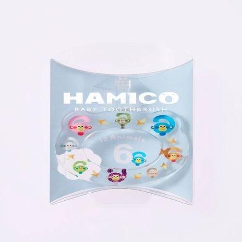 HAMICO 寶寶顧齒牙刷-月份6-猴子★愛兒麗婦幼用品★