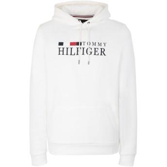 《セール開催中》TOMMY HILFIGER メンズ スウェットシャツ ホワイト S コットン 64% / ポリエステル 36% BASIC HILFIGER HOODIE