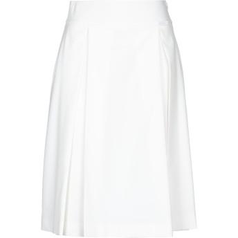 《セール開催中》ALESSANDRO DELL'ACQUA レディース ひざ丈スカート ホワイト 38 ポリエステル 90% / ポリウレタン 10%