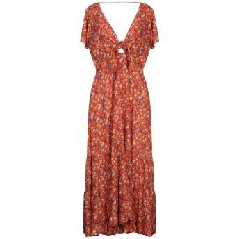 《セール開催中》AUGUSTE THE LABEL レディース 7分丈ワンピース・ドレス 赤茶色 10 レーヨン 100%