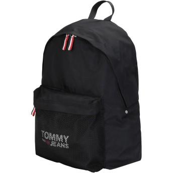 《セール開催中》TOMMY JEANS メンズ バックパック&ヒップバッグ ブラック リサイクルポリエステル 100% TJM COOL CITY BACKPACK