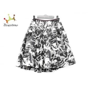 ロイスクレヨン Lois CRAYON スカート サイズM レディース 黒×ベージュ×ボルドー ウエストゴム 新着 20191130