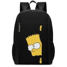 バート シンプソン Bart Simpson リュックバック リュックナップザック バッグ ノートパソコン用のバッグ 大容量 バックパックチ キャンパス バックパック 大人のバックパック 旅行 ハイキングナップザック