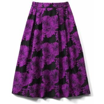あったかインナーパンツ付き 華やぎジャカードスカート〈ピンク〉 IEDIT[イディット] フェリシモ FELISSIMO【送料無料】
