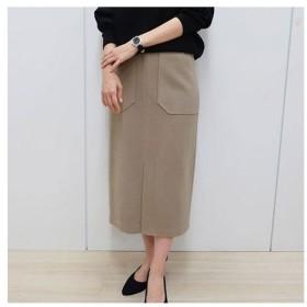 【バーゲン】ウールタッチタイトスカート S M L|1429-703714