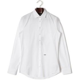 【75%OFF】ワイドカラー 長袖シャツ ホワイト 46