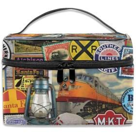 面白いロゴ 綴りの図案 切手 化粧ポーチ 化粧品バッグ 化粧品収納バッグ 収納バッグ 防水ウォッシュバッグ ポータブル 持ち運び便利 大容量 軽量 ユニセックス 旅行する