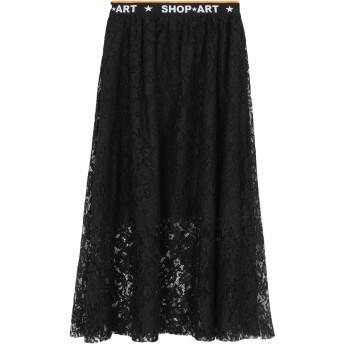 《セール開催中》SHOP ★ ART レディース 7分丈スカート ブラック L ポリエステル 100%