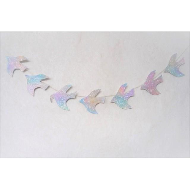 水晶と雪の鳥のガーランド 2