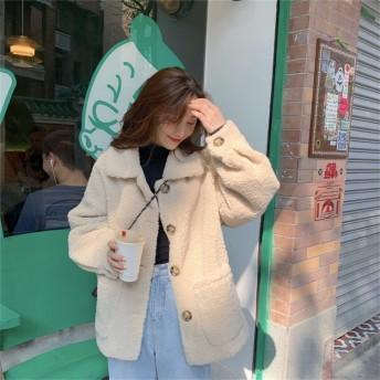 ◆送料無料◆元気な少女 秋冬服 可愛い 軽い 暖かい 厚手 女性の秋と冬新商品 柔らかい 快適 長袖 トップス ウールコート ショートコート