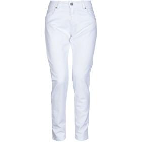 《セール開催中》SOUVENIR レディース パンツ ホワイト S コットン 97% / ポリウレタン 3%