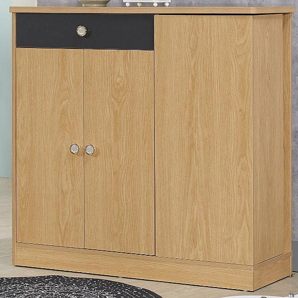 鞋櫃 QW-423-4 景里3.3尺原木色旋轉鞋櫃【大眾家居舘】