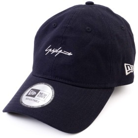 [ヨウジヤマモト × ニューエラ] Yohji yamamoto × NEW ERA コラボ キャップ シグネチャー ロゴ コットン 帽子 ショップバッグ付き 12146494 (ネイビー)