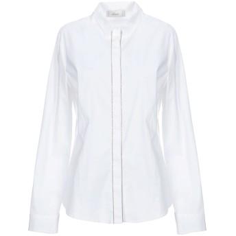 《セール開催中》ACCU by PSR レディース シャツ ホワイト 44 コットン 97% / ポリウレタン 3%