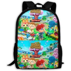双肩バッグ リュックサック Animal Crossing バックパック Schoolbag for Mens/Womens 大容量 通学 中学生かばん リュック スクエアリュック 男女子高校生 バック 通学 通勤