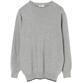 【6,000円(税込)以上のお買物で全国送料無料。】mens 綿ナイロンウール裾ラインクルー