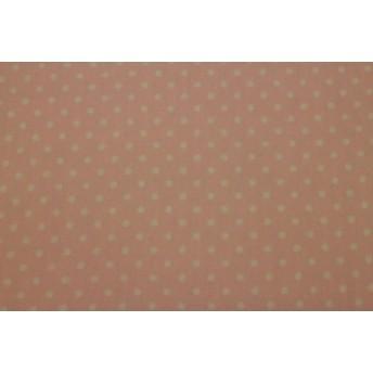 ラミネート生地 水玉、ドット柄 薄いピンク色 Rー128 107㎝幅×50㎝ つやなし