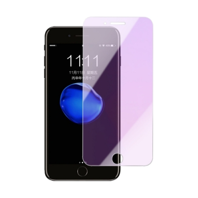 iPhone 7 8 Plus 非滿版 藍紫光 手機 9H鋼化玻璃保護貼 (iPhone7Plus保護貼 iPhone8Plus保護貼 )