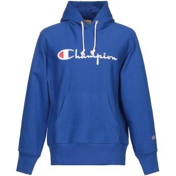 《セール開催中》CHAMPION メンズ スウェットシャツ ブルー L コットン 100%