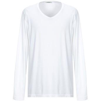 《セール開催中》CROSSLEY メンズ T シャツ ホワイト M コットン 100%