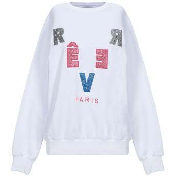《セール開催中》RVER Paris レディース スウェットシャツ ホワイト M コットン 100%
