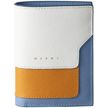MARNI マルニ VANITOSI 2つ折り財布 ナチュラルホワイト×パンプキン×オパール