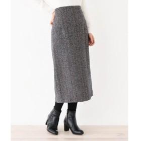 OPAQUE.CLIP / オペーク ドット クリップ 【洗える・42(LL)WEB限定サイズ】グレインツイードロングタイトスカート