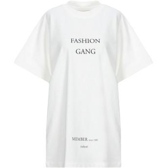 《セール開催中》IH NOM UH NIT レディース T シャツ ホワイト S コットン 100% / ポリウレタン