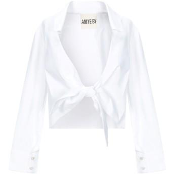 《セール開催中》ANIYE BY レディース シャツ ホワイト S コットン 61% / ナイロン 36% / ポリウレタン 3%