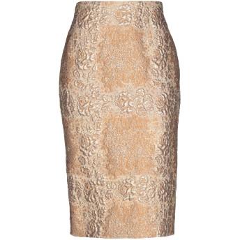 《セール開催中》VALENTINO レディース 7分丈スカート キャメル 36 ポリエステル 47% / シルク 44% / ナイロン 6% / 金属繊維 3%
