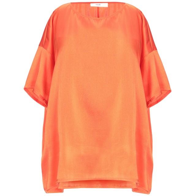 《セール開催中》SUOLI レディース ブラウス オレンジ 42 シルク 94% / ポリウレタン 6%