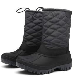 レディースブーツ チューブ内での女性の冬のブーツ暖かい雪の屋外カーフブーツノンスリップハイトップカジュアルスノーブーツ (Color : Gray, Size : 36)