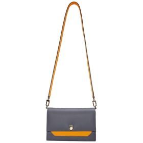 春のチェーンの小さな正方形の肩の幅の女性の広いショルダーストラップのハンドバッグ - 可愛い 小物入れ (Color : Gray, Size : Free size)