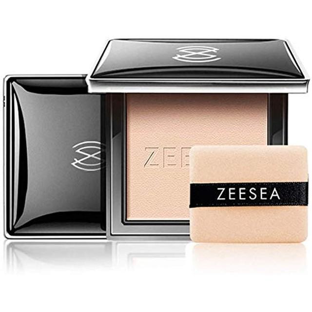 Zeesea フェイスパウダーファンデーション(パフ付き) テカリ防止効果のあるかつウォータープルーフコンシーラかつ美しくシェーディング (#00明るい肌色)