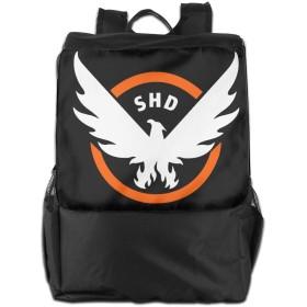 ディビジョンゲーム ロゴ Division Game Logo バックパック リュック 男女兼用 大容量 多機能 リュックサック 旅行 通勤 通学 PC収納 高耐久性