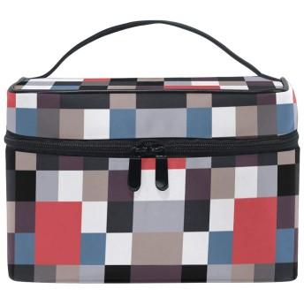アートブロック化粧品袋オーガナイザージッパー化粧バッグポーチトイレタリーケースガールレディース