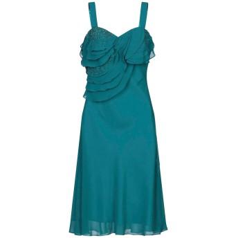 《セール開催中》CARLO PIGNATELLI CERIMONIA レディース 7分丈ワンピース・ドレス ディープジェード 44 ポリエステル 100%