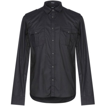 《セール開催中》OFFICINA 36 メンズ シャツ ブラック S コットン 100%