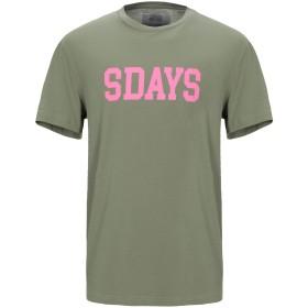 《セール開催中》SDAYS メンズ T シャツ ミリタリーグリーン L コットン 100%
