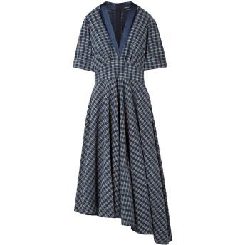 《セール開催中》ADAM LIPPES レディース 7分丈ワンピース・ドレス ダークブルー 8 コットン 100% / シルク / リサイクル繊維