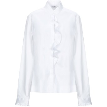 《セール開催中》CALIBAN レディース シャツ ホワイト 44 コットン 70% / ナイロン 27% / ポリウレタン 3%