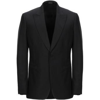 《セール開催中》ALEXANDER MCQUEEN メンズ テーラードジャケット ブラック 48 ウール 75% / モヘヤ 25% / シルク
