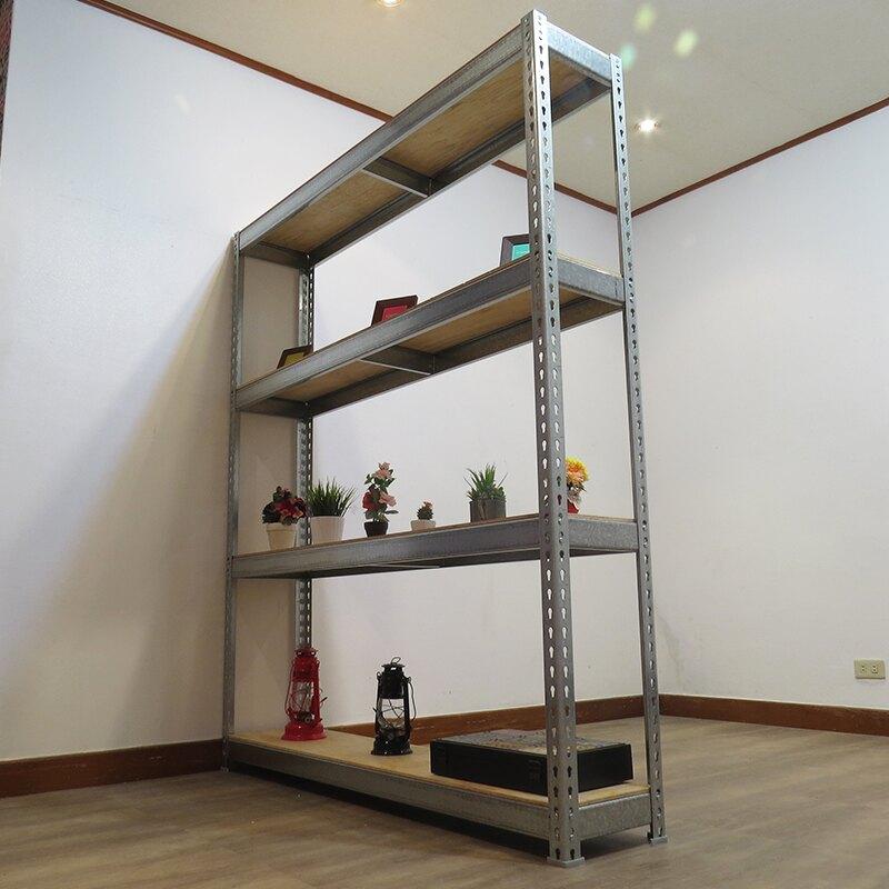 收納架 置物架 書架 層架 鐵架 鍍鋅免螺絲角鋼架(4x1.5x6尺 4層) 空間特工z4015640