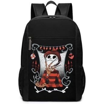 ナイトメアービフォアクリスマス ジャックスケリントン リュックバック リュックナップザック バッグ ノートパソコン用のバッグ 大容量 バックパックチ キャンパス バックパック 大人のバックパック 旅行 ハイキングナップザック