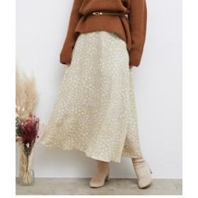 【ROPE' PICNIC:スカート】【WEB限定】ドットフラワースカート
