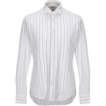 《セール開催中》TINTORIA MATTEI 954 メンズ シャツ アイボリー 38 コットン 100%