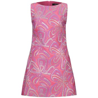 《セール開催中》COMPAGNIA ITALIANA レディース ミニワンピース&ドレス フューシャ 42 ポリエステル 90% / 金属 10%