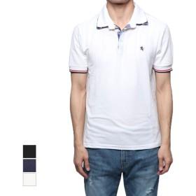 ポロシャツ - Style Block MEN ポロシャツ 半袖 ドライ 鹿の子 刺繍 ワンポイント シンプル 半袖ポロシャツ トップス メンズ ブラック ネイビー ホワイト 夏先行