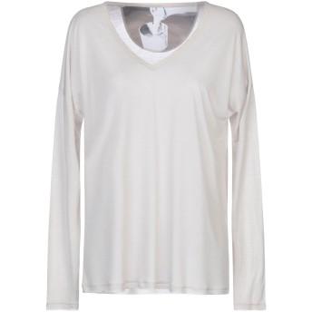 《セール開催中》PUROTATTO レディース T シャツ ベージュ XS レーヨン 60% / カゼイン繊維 40%